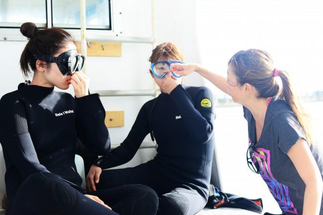 体験ダイビングで水中の世界へ