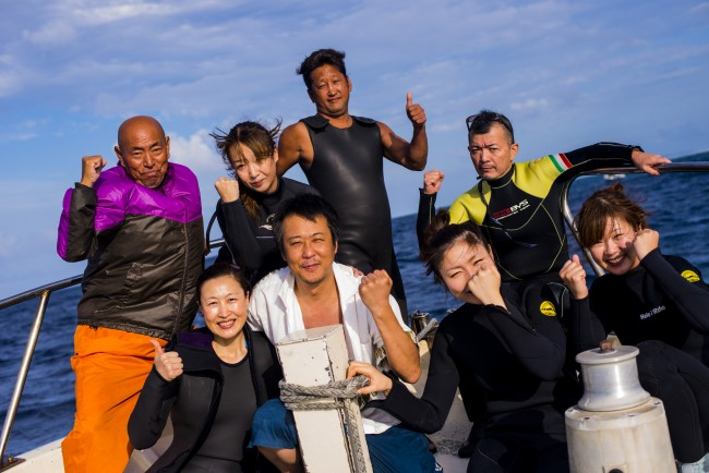 みんなで久米島でダイビング